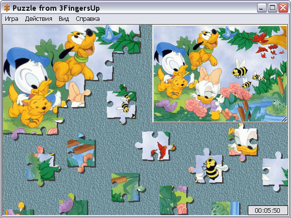 скриншот Puzzle from 3FingersUp 1.9.05